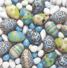 Partytischdecke.de | Servietten 33x33 Nostalgic Eggs 20 Stück