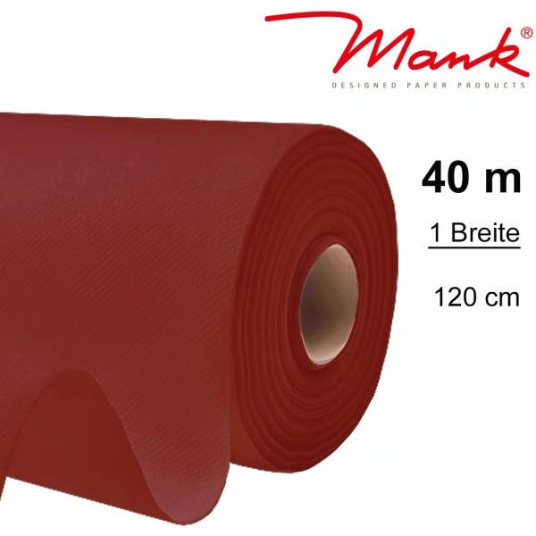 Partytischdecke.de | Tischdecke Mank Linclass 1,20 x 40 m bordeaux