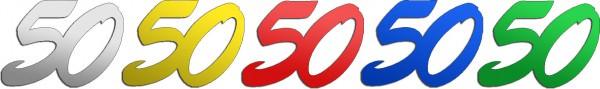 Partytischdecke.de | Jubiläumszahlen | 50 | Bunt 25 g
