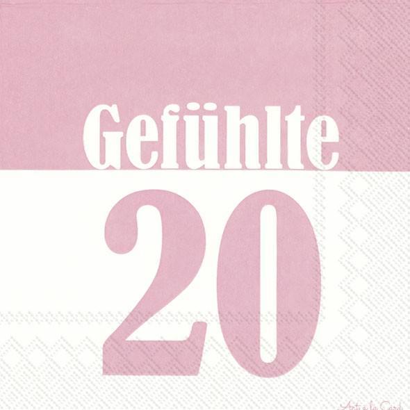 Partytischdecke.de | IHR Serviette 33x33 GEFÜHLTE 20 light rose