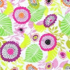Partytischdecke.de | Serviette 33x33 | Jumble | weiss-rosa-grün 20 Stück