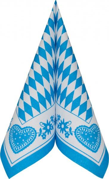 Serviette Royal 40x40 Bayerisch Blau 50 Stück