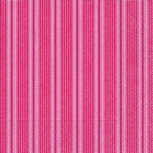 Partytischdecke.de | Servietten 25x25 Unique stripes pink 20 Stück