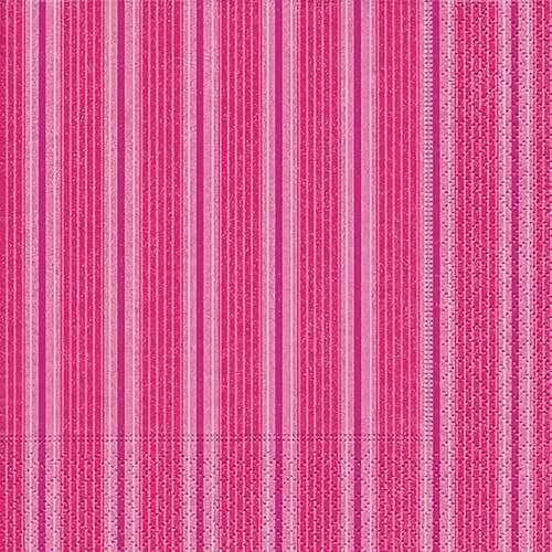 Partytischdecke.de | Servietten 25x25 Unique stripes pink 20 Stück