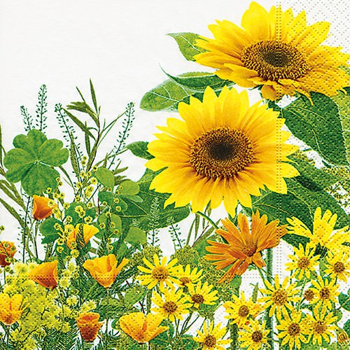 Partytischdecke.de | Servietten 25x25 Yellow Meadow 20 Stück