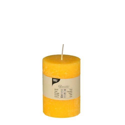 Partytischdecke.de | Rustik Kerze gelb Ø 7 cm x Höhe