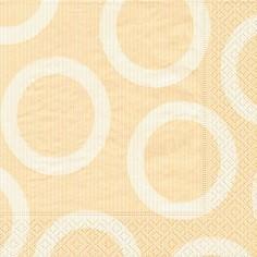 Partytischdecke.de | Servietten 33x33 Circle creme 20 Stück