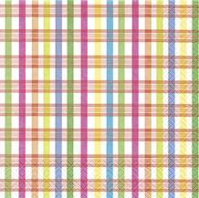 Partytischdecke.de | Servietten 33x33 Checkes Pattern 20 Stück