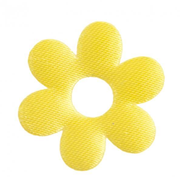 Satin Deko Blume Ø 3 cm gelb 24 Stück