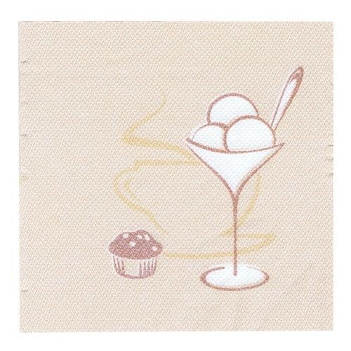 Partytischdecke.de | Servietten Royal 25x25 champagner  | Cafe |  50 Stück