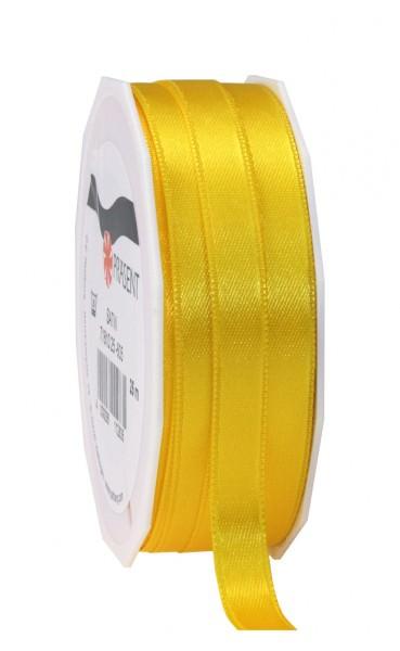 Partytischdecke,de   Satin Premium Band 10 mm x 25 m gelb