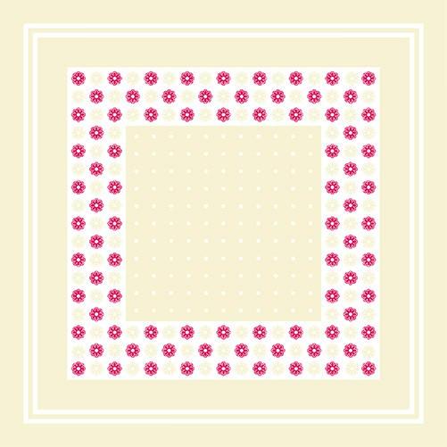 Partytischdecke.de | Servietten Sovie Home 40x40 Missy beige/bordeaux 12 Stück