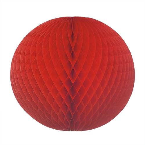Wabenball aus Papier Ø 60 rot schwer entflammbar 1 Stück