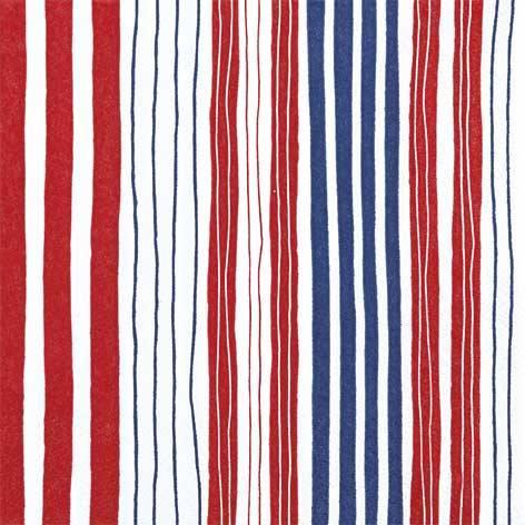 Partytischdecke.de | Servietten 25x25 Striped red