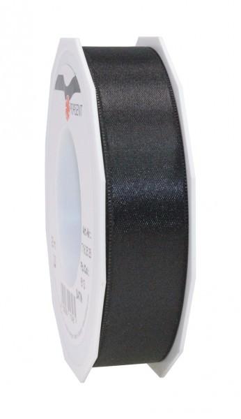 Partytischdecke.de | Satin Premium Band 25 mm x 25 m schwarz