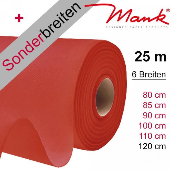 Partytischdecke.de | Tischdecke Mank Linclass rot 25 m x Breite
