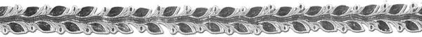 Verzierwachsstreifen Blätterborte 25 cm x 12 mm silber 1 Stück
