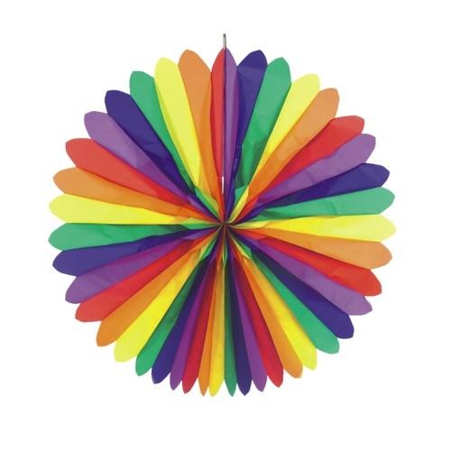 Partytischdecke.de | Dekofächer Ø 120 cm | Rainbow | 1 Stück
