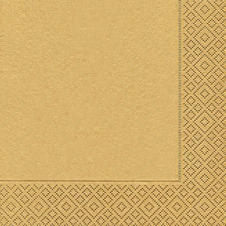Partytischdecke.de | Servietten 33x33 Uni gold 20 Stück