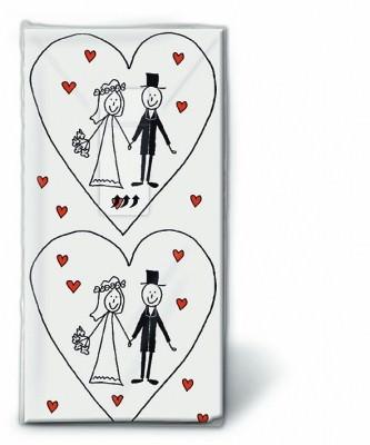 Motiv Taschentücher Päckchen Marriage 10 Stück