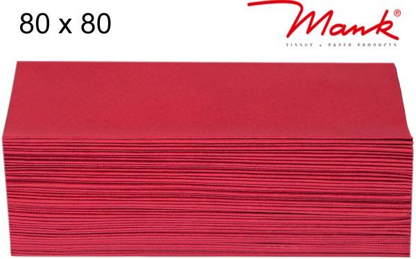 Partytischdecke.de | Mitteldecke 80 x 80 cm Mank Linclass rot
