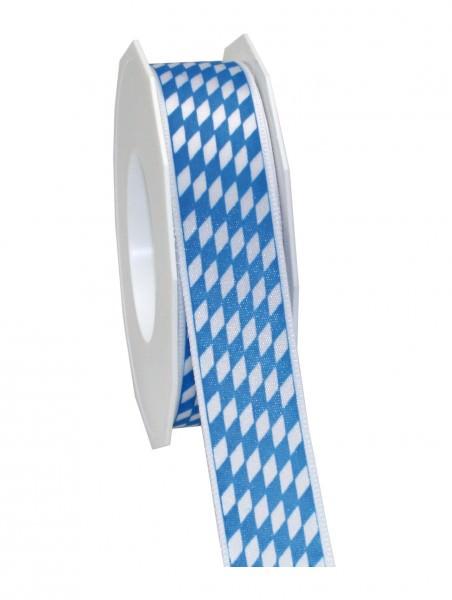 Partytischdecke.de   Band BAVARIA weiss-blau 25-mm x 20-m-Rolle