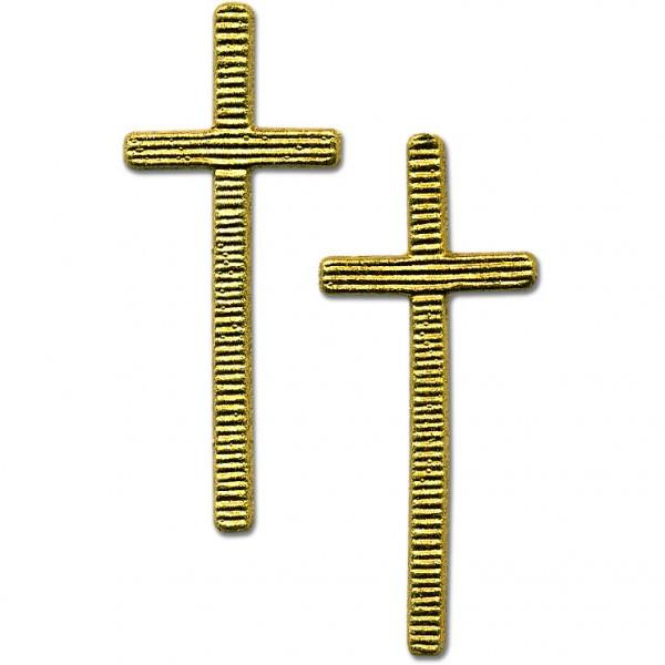 Verzierwachs Kreuz 50 cm x 20 mm gold 2 Stück
