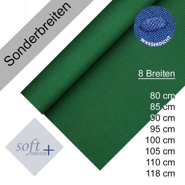 Partytischdecke.de | Tischdecke Soft Selection Plus dunkelgrün Auswahl