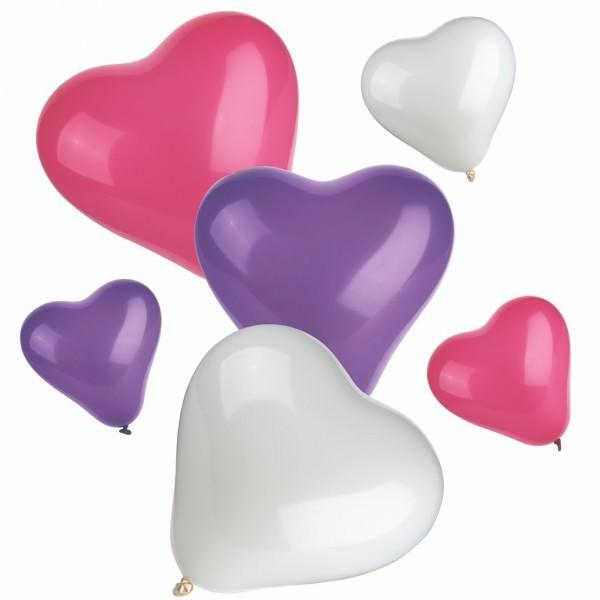 Partytischdecke.de | Luftballons farbig sortiert small+medium 12 Stück