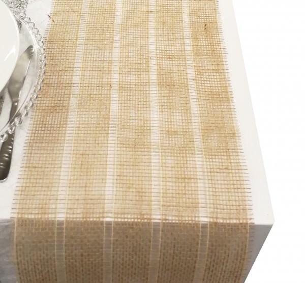 Juteband Natur Stripes 25 cm x 5 m 1 Rolle