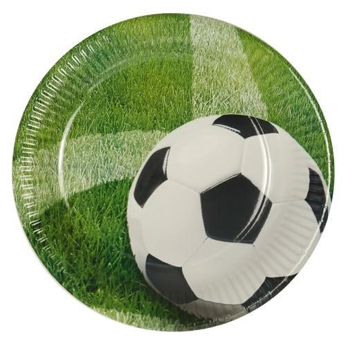 Partytischdecke.de | Pappteller Papstar Ø 23  | Football |  10er Pack