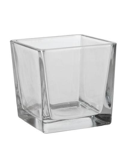 Partytischdecke.de | Kerzenhalter 10x10x10 Glas Cube 1 Stück