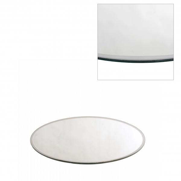 Spiegelplatte mit Facettenschliff Ø 12 cm