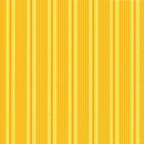 Partytischdecke.de | Servietten 25x25 Unique stripes yellow 20 Stück