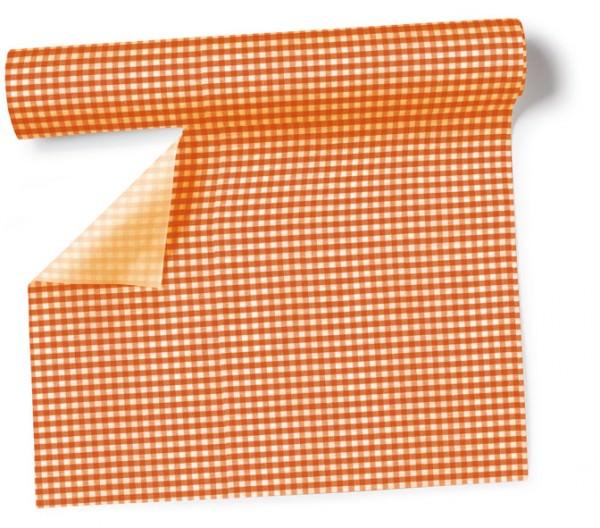 Partytischdecke.de | Tischläufer 40 cm x 3,60 m Vichy orange