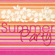 Partytischdecke.de | Servietten 25x25 Summer Party 20 Stück