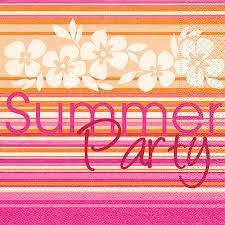 Partytischdecke.de   Servietten 25x25 Summer Party 20 Stück