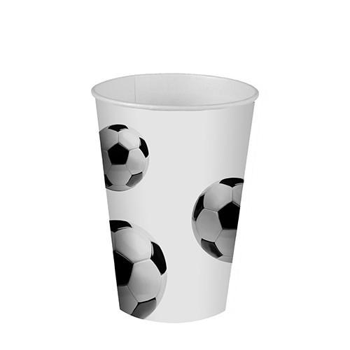 Partytischdecke.de   Trinkbecher-Pappe Papstar 0,2 l    Soccer    10er Pack