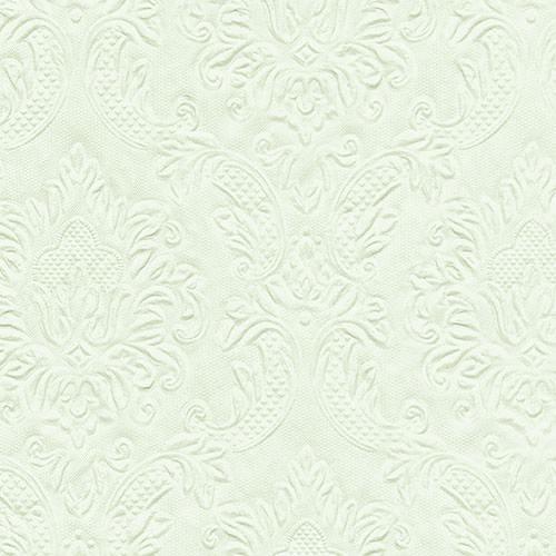 Partytischdecke.de | Serviette blassgrün 33x33 Moments Ornament 16 Stück