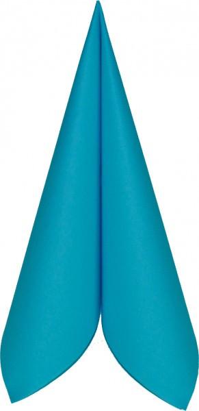 Partytischdecke.de | Serviette Mank Linclass 25x25 aquablau 50 Stück