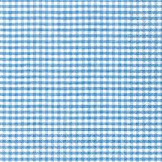 Partytischdecke.de | Servietten 33x33 Vichy blue 20 Stück