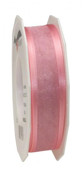 Partytischdecke.de | Satin-Organza Band rosé 25 mm