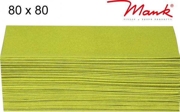 Partytischdecke.de | Mitteldecke 80 x 80 cm Mank Linclass kiwi