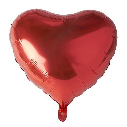 Partytischdecke.de   Folienluftballon Ø 45 cm rot großes Herz