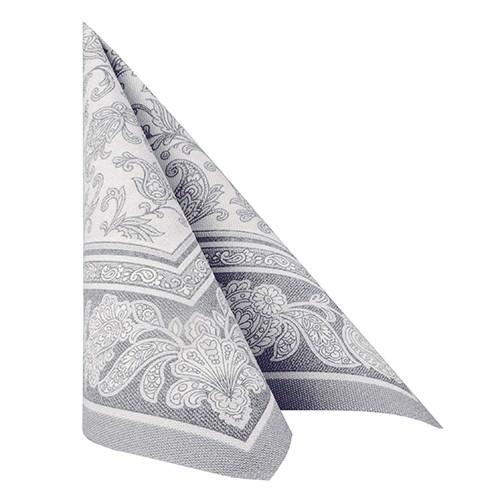 Partytischdecke.de | 50 Servietten 40x40 Royal grau ornament