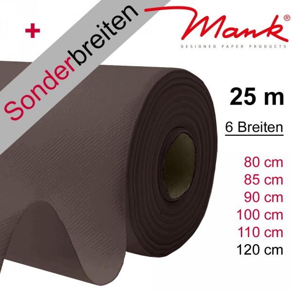 Partytischdecke.de | Tischdecke Mank Linclass braun 25 m x Breite