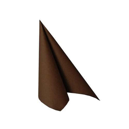 Partytischdecke.de | Serviette 25x25 Royal braun 20 Stück