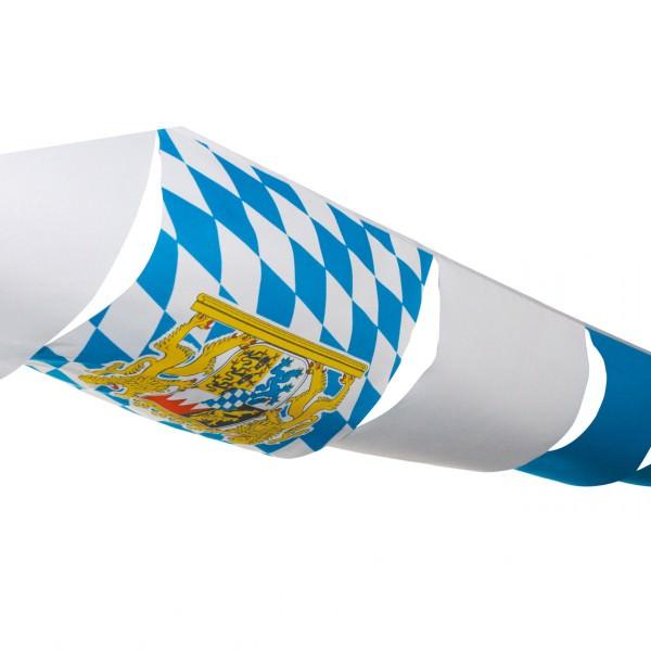 Partytischdecke.de   Flaggenkette Bayern 10 m, wetterfest, weiß-blau