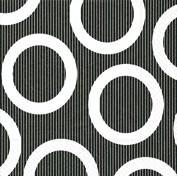 Partytischdecke.de | Servietten 25x25 Circle black 20 Stück