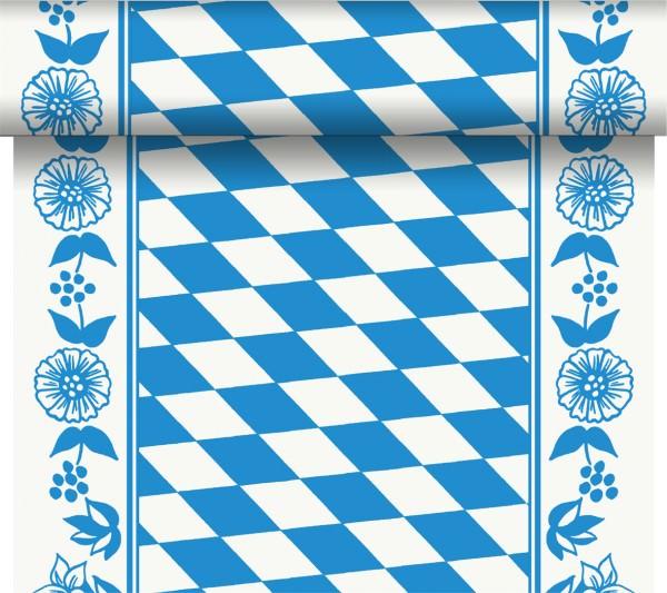 Partytischdecke.de | Tischläufer 40 cm x 24 m Dunicel Bayerische Raute